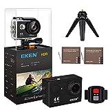 EKEN H9R 4K Action Camera wifi Ultra HD Telecamera d'azione Telecamera di controllo Wi-Fi Impermeabile con Telecomando da 2,4 G Foto 12MP grandangolare 2.0'IPS Schermo da 30 m Impermeabile Pro Cam