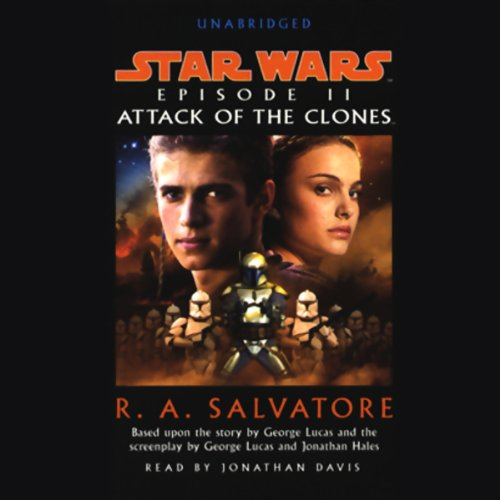 Star Wars Episode II audiobook cover art