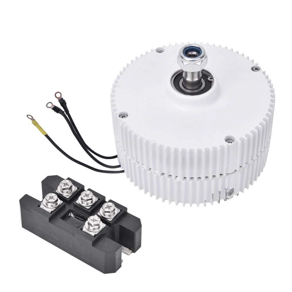 Motor Generador Síncrono, Generador de Imán Permanente de Turbina Eólica 24V 400W Alternador Síncrono Trifásico NE-400(Generator + Rectifier)