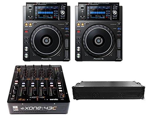 Affordable 2x Pioneer XDJ-1000MK2 + Xone:43C + Coffin
