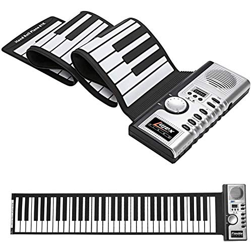 Teclado Roll Up Piano Portátil 61 Teclas Electronic Digital Hand Roll...