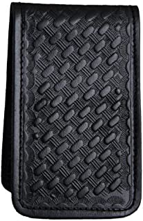 HWC Basketweave Leather Covered Memo Book Holder
