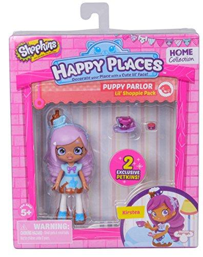 Shopkins – Happy Places – Puupy Parlor – Kirstea – Set 2 Mini Figurines Petkins + 1 Mini Poupée