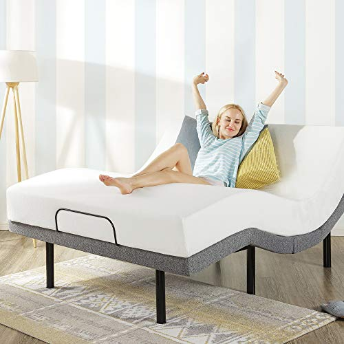 Mellow Genie 500 - Adjustable Bed Base, Unique Added Head Tilt, Wireless Remote Control, 5 Minute Tool-Free Assembly, Dual USB Charging Ports, Twin XL,