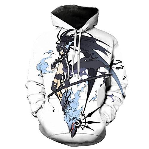 MUJOELE Sudadera para hombre White Casual Anime War 3D Impresión Digital Anime C. L