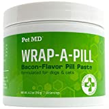 Pet MD Wrap A Pill Bacon Flavor Pill Paste for Dogs - Create a Pocket to Hide Pills and Medication - 59 Servings