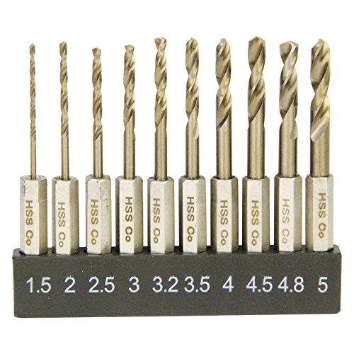 E-Value 六角軸 ステンレス用ドリルセット ショート 10本組 ESSD-10HEX