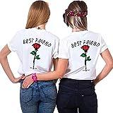Daisy for U Best Friends Sister Tshirt BFF 1 Stücke-Weiß-L