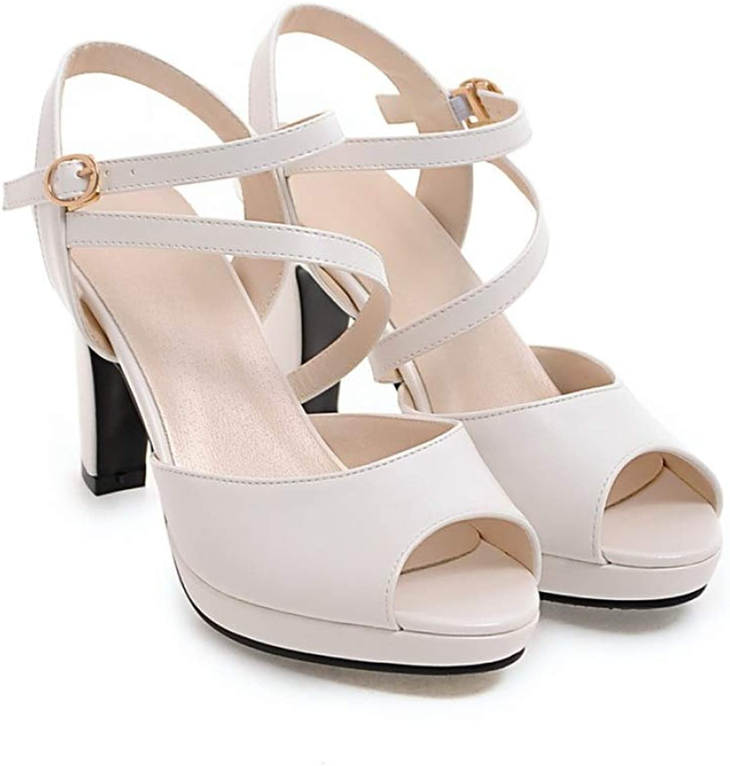 Summer Women Sandals Sexy High Heel Gladiator Sandal Women Fashion Cross-Tied Sexy Peep Toe Ladies shoes White Pink Black