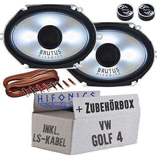 Hifonics BX682i - 6x8' Oval Lautsprecher mit LED-Beleuchtung - Einbauset für VW Golf 4 - JUST SOUND best choice for caraudio