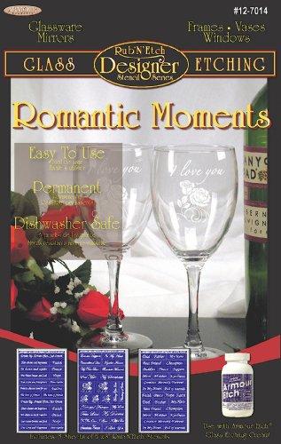 Armour Etch Designer Schablone Pak Romantic Moments