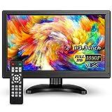 Eyoyo 13.3インチ 小型モニター IPS HDMI 1920x1080 16: 9 LCD ディスプレイ スクリーン HDMI VGA AV BNC USB入力 安全監視モニター PCモニター 車モニター PS4 顕微鏡産業用モニター Switch,Raspberry Piモニターなどに最適