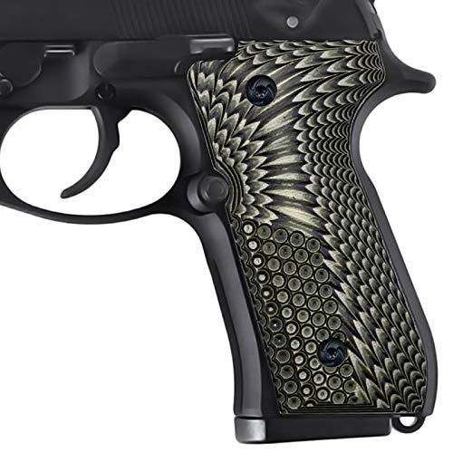 Guuun Beretta 92/96 Full Size G10 Grips,Beretta 92 FS, m9, 92a1, 96a1, 92 Inox Grips, And Slim Down The Beretta Grips, Eagle Wings Texture, Brand By