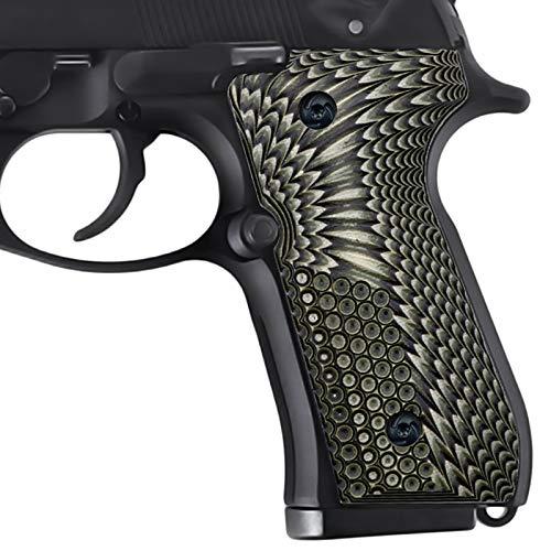 Beretta 92/96 G10 Grips, Beretta 92fs Grips Eagle Wings Texture - Screws Set Included