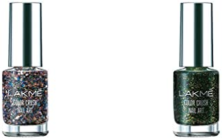 Lakmé Color Crush Nailart, G12, 6ml & Lakmé Color Crush Nailart, S7, 6ml