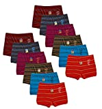 Kids Basket Dora Line Printed 100% Cotton Baby Boys & Girls Briefs Drawer Inner Underwear Combo Offer Pack of 12 Pc Box (5-6 Years)