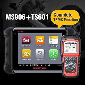 Autel MaxiSys MS906 Automotive Diagnostic Scanner Bundle Autel TS601 TPMS Relearn Tool Sensor Programming