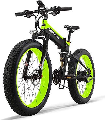 Bici electrica, 48V 14.5AH 1000W Motor All-Round bicicleta eléctrica de 26 pulgadas 4.0 al por mayor de neumáticos de bicicleta eléctrica 27 velocidad de montaña de nieve plegable bicicleta eléctrica