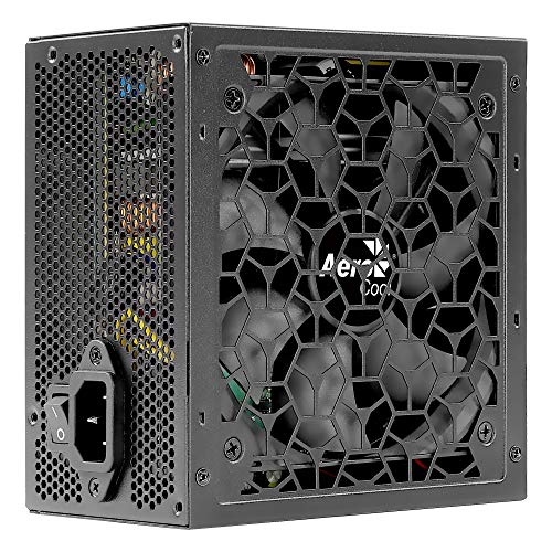 Aerocool AEROW550, Alimentation PC 550W, 80Plus 230V, Silencieux, Black