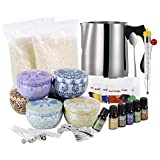 Candle Making Kit, Stainless Steel Pouring Pot, Arts and Craft Supplies for Adults, Kids, Soy Wax, Cotton Wicks, Tins & More