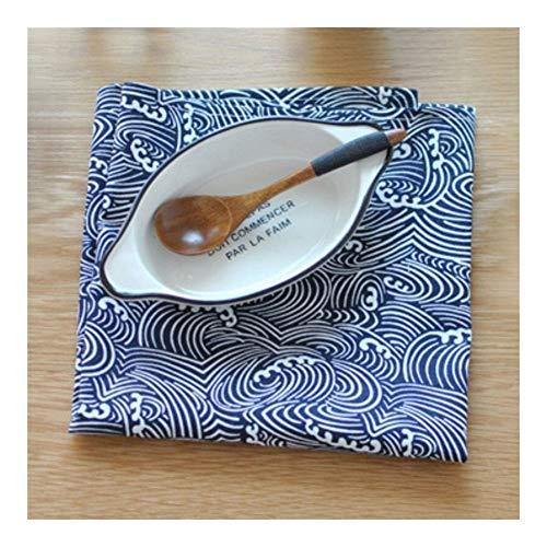 AGNN 40 * 70cm Las Olas Sector Tela Escocesa Mar Estilo japonés Mat servilleta Postre de Mesa servilletas paños de Cocina Cocina paño de Cocina manteles (Color : C)