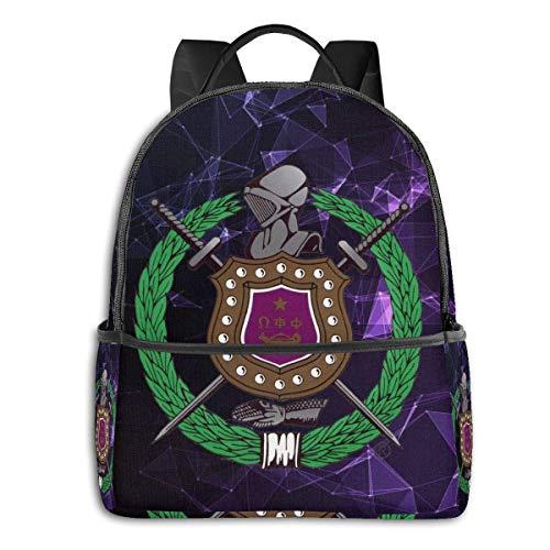 IUBBKI Omega Psi Phi Travel Laptop Backpack Casual Daypack Computer Bag Gift For Men Women