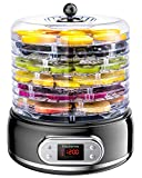 Elechomes 6-Tray Food Dehydrator, Faster Drying for Beef Jerky, Meat, Fruit, Dog Treats, Herbs,...