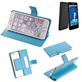 K-S-Trade® Flipcover Für Haier Phone L52 Schutz Hülle Schutzhülle Flip Cover Handy Case Smartphone Handyhülle Blau