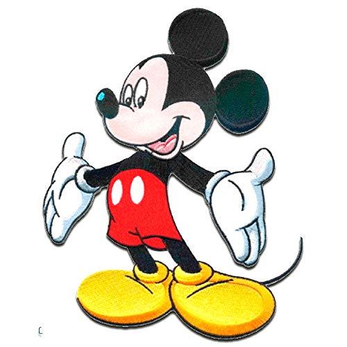 Disney © Mickey Mouse XL MICKY STEHEND - Aufnäher, Bügelbild, Aufbügler, Applikationen, Patches, Flicken, zum aufbügeln, Größe: 20 x 15 cm