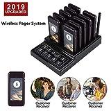 ASHATA Wireless Cercapersone per Ristorante, Sistema di Chiamata Ospite Wireless, Chiamata...