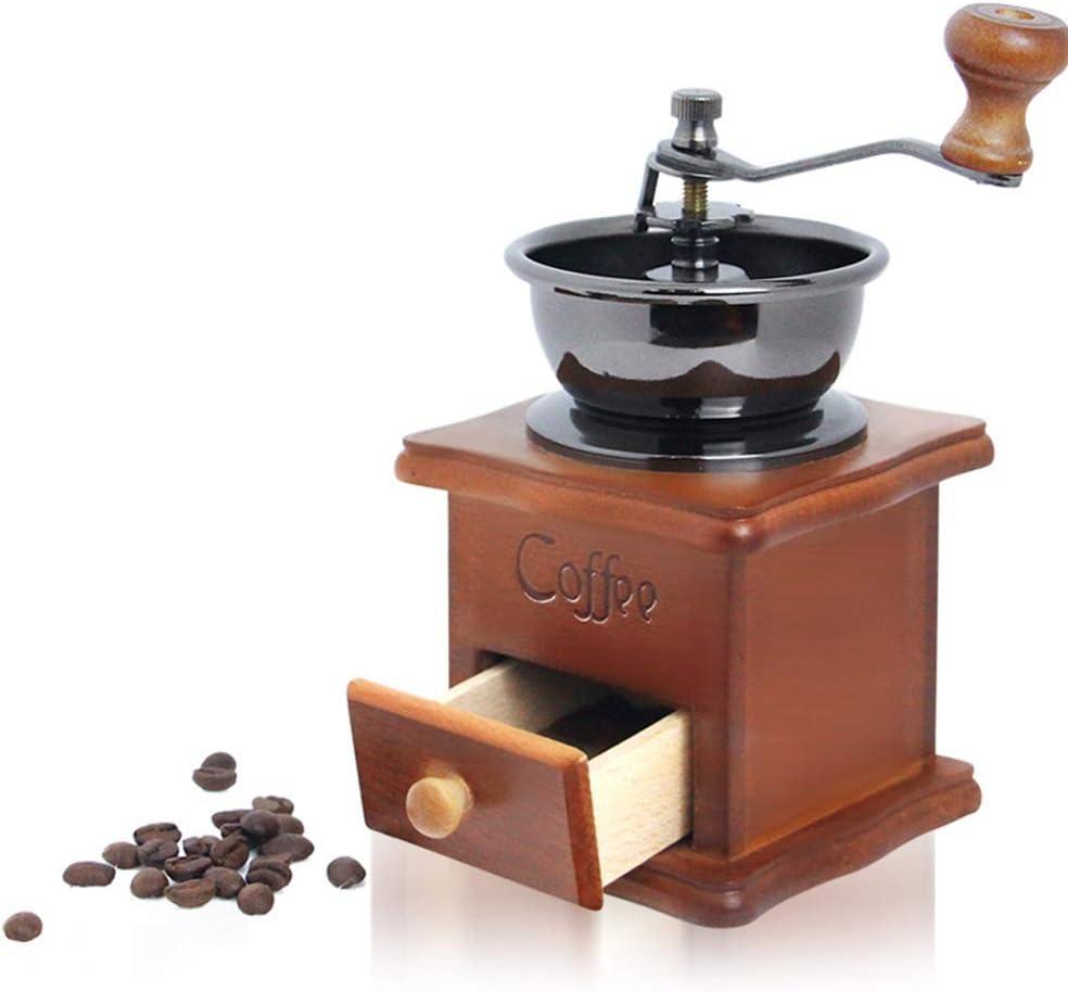 Manual Coffee Grinder Retro Max 75% OFF Grai Wood Hand cheap