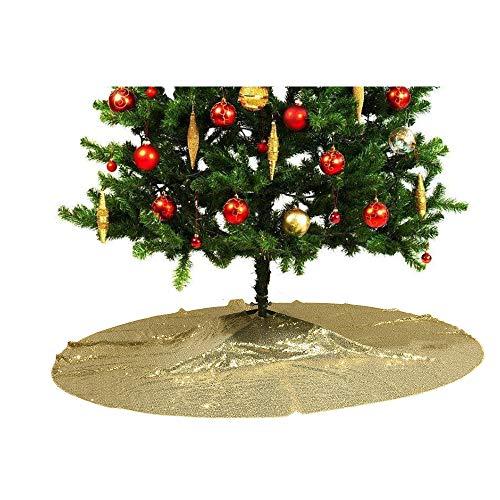 PartyDelight Sequin Christmas Tree Skirt 50' Gold