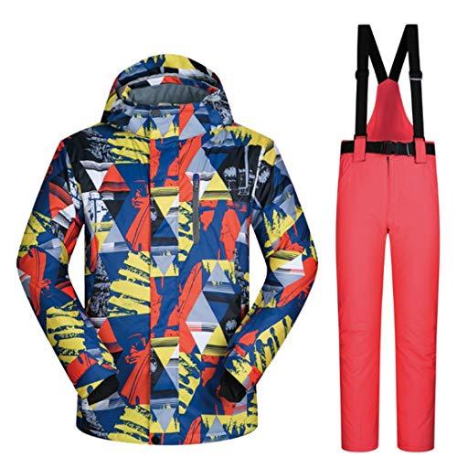 FELICILII Chaqueta y Pantalones de esquí for Hombres Traje de Nieve Chaqueta de esquí Descente for Hombres (M-XXXL)