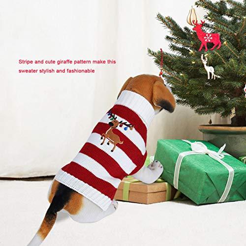 Suéter cálido para mascotas, abrigo de invierno para perros y gatos para decoración de mascotas, para vacaciones y ocasiones especiales,(red, S)