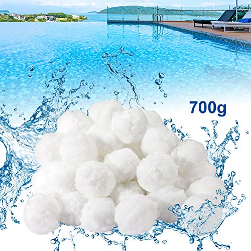 Bearbro Filtro de la Piscina,Bola de Filtro de Piscina,Filter Balls,Filtro de Piscina de Bolas de Limpieza,Filter Balls Alternative para Filtro de Arena,Respetuoso, Duradero (700g)