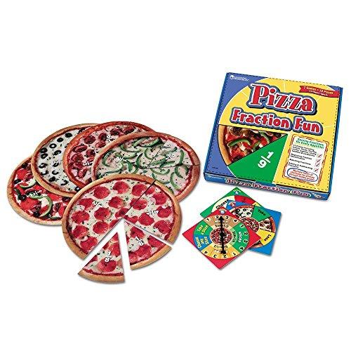 Learning Resources- Divertido Juego de fracciones Pizza Fraction Fun, Color (LER5060)