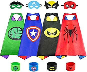 Bomly Superhero Capes with Masks for Kids