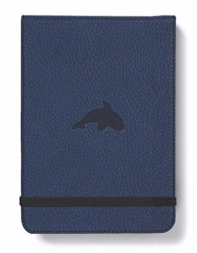 Dingbats D5511BL Wildlife A6+ Reporter Hardcover Notizbuch - PU-Leder, Mikroperforiert 100gsm Creme Seiten, Innentasche, Gummiband (Liniert, Blauwal)