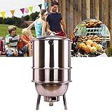 DJLOOKK Grandi Barbecue Griglie e Fumatori, Barbecue a carbonella in Acciaio Inossidabile Griglie per Barbecue, Combinazione Grill-Fumatori per Campeggio Picnic Viaggi Giardino Terrazza Party