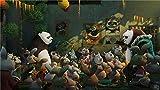 74Tdfc Puzzle 1000 piezas Modelo de madera Juego intelectual para niños Regalo de bricolaje Decoraciones el hogar Adulto Anime Kung Fu Panda