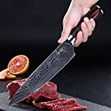 Chef Knife, Kosiehouse High Carbon Stainless Steel Professional 5Cr15Mov Kitchen Knife with Razor...
