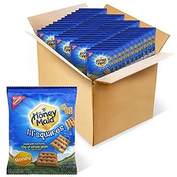 Honey Maid Lil  Squares Graham Crackers Honey 1.06 oz -Pack of 72