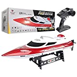 URVP Fast Remote Control Boat Adults speedboat 35km/H Rc ship Low Battery & Range Signal Auto Flip Recovery 2.4 GHz Radio Controlled ship Fastest Racing Pool Boat Speed vessel Gift Toy (Color : Red)