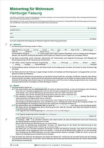 RNK 526 Kaufverträge und Mietverträge Mietvertrag A4 Hamburger