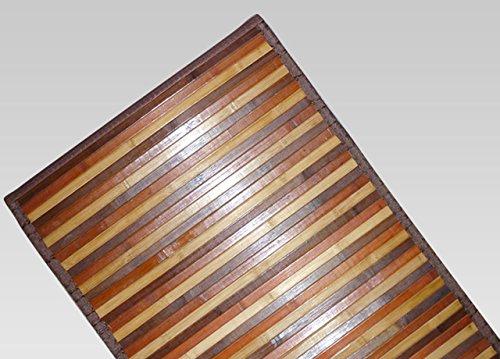 BIANCHERIAWEB Tappeto Bamboo Degradè in Varie Colorazioni 50x180 cm Marrone