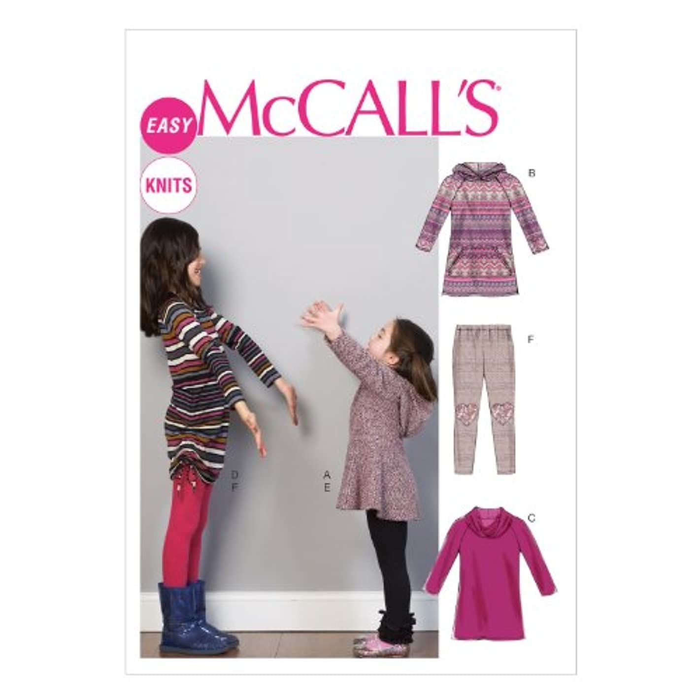 McCall Pattern Company M6785 Children's/Girls' Dresses and Leggings Sewing Template, Size CCE (3-4-5-6)