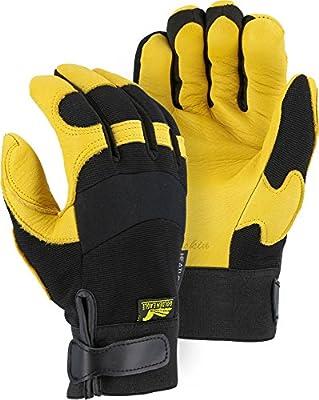 Golden Eagle Winter Lined Deerskin Leather Gloves with Windproof Heatlok (Mechanics Style)