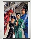 Home Decor Anime YuYu Hakusho Urameshi Yuusuke Shuuichi poster wall Scroll...