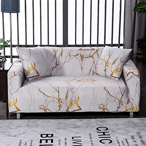 ASCV Sofa cover printed cover, used for sofa cover in living room, dustproof and washable non-slip sofa cover A2 4 seater