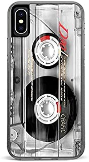 CASE LOCK LTD -Vintage Cassette Player Camera Stereo Boom Box - Hard Rubber Phone case for Apple iPhone Xs (2018 Model) Made and Shipped from The USA